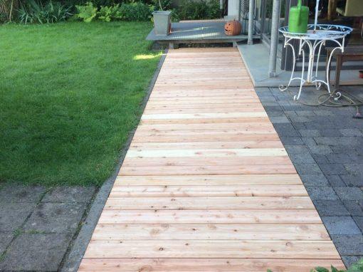 Garten Bodenbelag aus Holz