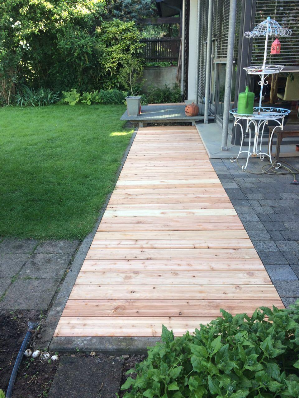 Garten Bodenbelag Aus Holz Montageservice Feiler